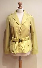 JIGSAW YELLOW COAT SIZE 10 BELT COTTON NYLON