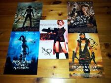"RESIDENT EVIL SET OF 5 PP SIGNED 12""X8"" POSTER MILLA JOVOVICH"