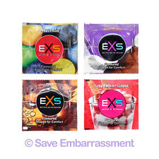 24 EXS MIXED FLAVOUR Condoms - Bubblegum Chocolate Cola & Strawberry Sundae mix