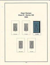 U. S. Revenue Cigar Stamps Class E - Series 125, 1955 PRISTINE (LN112)