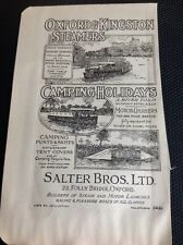 T1-9 Ephemera 1947 Picture Salter Bros Limited Oxford & Kingston Steamers