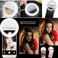 Lume Selfie LED Ring Flash Fill Light Clip Camera For iPhone Samsung HTC Sony