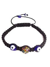 Evil Eye Multicolor Evil Eye Shamballa Bracelet BLACK Bracelet #2710