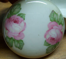 Old/Antique Rose Powder Dish Made in Germany Lot# E36