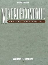 Macroeconomics : Theory and Policy by William H. Branson (1997, Paperback)