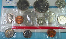 1976 P/D   U.S. EISENHOWER DOLLAR 6-COIN  MINT SETS, Philadelphia & Denver Coins