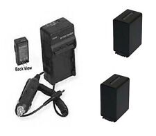 TWO 2 NP-FV100 NPFV100 Batteries +Charger for Sony SX43 SX44 SX45 SX53 SX63 SX65