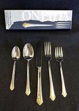 ONEIDA GOLDEN DAMASK ROSE 1- 5 Pc. PLACE SETTING *NEW IN BOX*
