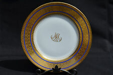 "RAYNAUD LIMOGES INCRUSTATION PORCELAIN DINNER PLATE, BYZANCE, 9.75"" D, FRANCE"