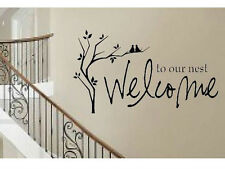WELCOME TO OUR NEST Words Wall Decal Lettering Sticky Sticker Quote Decor 24""
