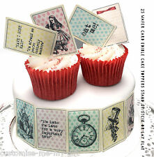 25 wafer card Alice in Wonderland Edible Playing cards Cupcake Toppers | Cake |