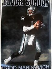 RARE TODD MARINOVICH RAIDERS 1992 VINTAGE ORIGINAL COSTACOS BROTHERS NFL POSTER