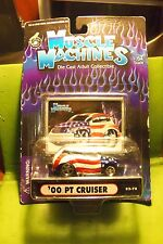 Muscle Machines 00 2000 American Flag PT Cruiser Die Cast Car Never Opened