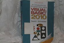 An Introduction to Programming Using Visual Basic 2010, 8th ISBN 9780132128568