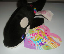 "LISA FRANK FANTASTIC BEANS MAX SPLASH ORCA WHALE 7"" BEAN BAG PLUSH TOY"