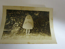 First Communion Little Girl Black White photograph snapshot picture 1950's