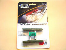 2 Kool-Stop Thinline VERDE GREEN cantilever GANASCE FRENO BRAKE SHOE PADS