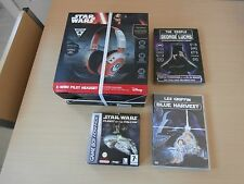 CASQUE STARWARS X WING PILOT+JEU STARWARS GAMEBOY ADVANCE +2 DVD STARWARS