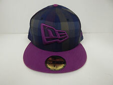 New Era 59Fifty New Era Logo Plaid/Purple  Fitted Baseball Cap-7 1/2