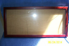 "Shadow Box Frame 20"" x 9""  Color: Mahogany (For Use With Your Collectibles)"