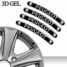 4 DOMED 3D RIM WHEEL STICKERS STRIPE PEUGEOT CAR AUTO EMBLEM TUNING SPORT C82