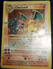 Shadowless Holo Foil Charizard # 4/102 Base Set Pokemon Trading Cards Rares DA