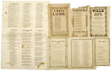 Music Lyric Sheets from mid-1850s - Stephen Foster