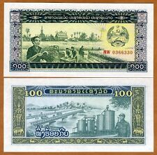 Lao / Laos, 100 Kip, ND (1979), P-30, UNC   Peasants, Soldier, Bridge