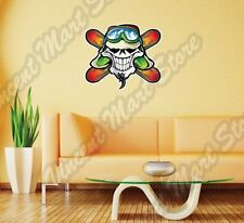 Skull Snowboarder Snowboarding Snowboard Wall Sticker Room Interior Decor 22""