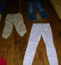 Lot of 3 PAirs of Pants Gap, Old Navy, American Eagle Size 26r XS 4