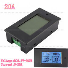 DC 4 in 1 20A LCD Combo meter Voltage current KWh watt Car battery pannel power