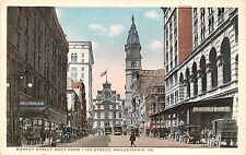 Philadelphia PA~Market Street West from 11th St~Phila. & Reading RY~Bedell~1920s