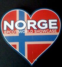 Disney Epcot Norway Pavilion I Heart Norge Magnet, NEW