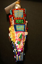 CHRISTOPHER RADKO * COUNT DOWN 2001 * NEW YORK TIMES SQUARE ORNAMENT ~ LARGE ~