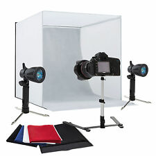 "24"" Photography Light Tent Backdrop Kit Cube Lighting Kit In A Box Photo St"