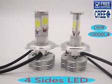 White 6000K H4 180W 18000LM CREE Headlight LED Kit Bulb H7 Replace Halogen Xenon