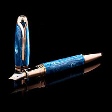 "Montegrappa ""Amadeo Modigliani"" 18K RG Diamond Fountain Pen M Medium Nib Ltd Ed"