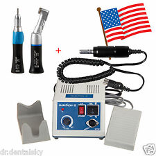 Dental Lab Marathon Micro Motor Electric+Straight Handpiece +Contra Angle US GQA