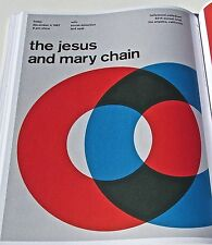 """THE JESUS AND MARY CHAIN""  ""ROCK AND ROLL BAND MINI POSTER CONCERT  REPRINT GRE"