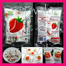 2 Bags x Strawberry Candy Chewy Milk ( 67g. x 2 ) Thai Fruit Toffee Asian Yummy
