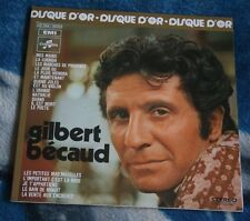 GILBERT BECAUD DISCUE D'OR FRENCH LP COLUMBIA 2C 064 - 16050 GATEFOLD