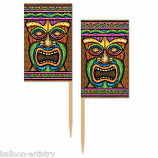 50 Tropical TIKI TOTEM Summer BBQ Party Cocktail Flag Snack Picks