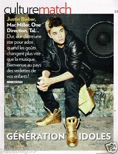 Coupure de presse Clipping 2012 (3 pages) Justin Bieber