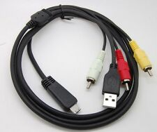 E-NEW USB& AV TV cable Cord  CORD for Sony  camera DSC- W350 Compatible VMC-MD3