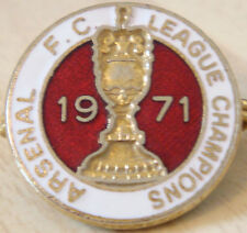 ARSENAL Rare 71 LEAGUE CHAMPIONS badge Maker COFFER London Brooch pin 22mm Dia