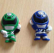power rangers super sendai gashapon fidge magnets Japan bandai blue green