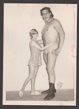 SEPT 1971 ANDRE THE GIANT JEAN FERRE  5X8 ORIGINAL PRESS WIRE PHOTO MONTREAL