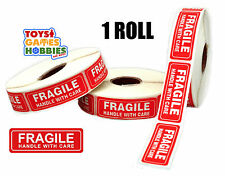"""1000 (1 Roll) 1 x 3"""" inch Fragile Handle with Care Shipping Box Sticker Labels"""