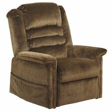 "Catnapper - Soother ""Pow'r Lift"" Full Lay-Out Chaise Recliner in Autumn Chenille"