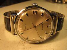 Vintage 1968 TIMEX  Waterproof Wrist Watch W/ Speidel Stainless Steel Band
